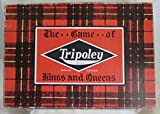 VINTAGE TRIPOLEY: THE GAME OF KINGS AND QUEENS (SERVICE EDITION) COPYRIGHT 1942 MANUFACTURED AND DISTRIBUTED BY CADACO - ELLIS MERCHANDISE MART IN CHICAGO, ILLINOIS (FREE SHIPPING)