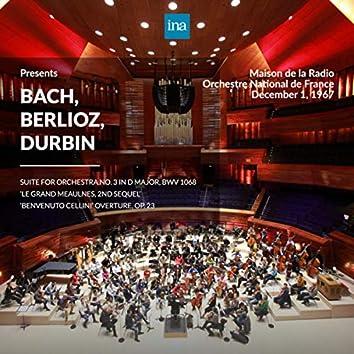 INA Presents: Bach, Berlioz, Durbin by Orchestre National de France at the Maison de la Radio (Recorded 1st December 1967)