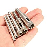 WY-YAN 5 diamantes herramienta de diamante taladro sierra mordió dispuestos canica de vidrio sierra de perforación 5-12mm o accesorios for herramientas de corte de baldosas de granito (Color : 5pcs)