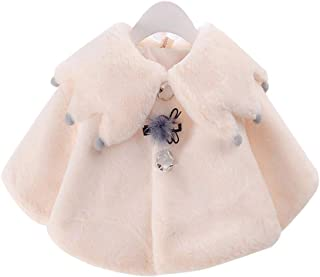 BOZEVON Baby Girl Coat - Cute Cloak Autumn Winter Warm Outerwear Newborn Outfits Infant Clothes