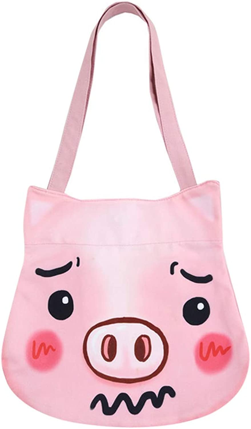 Aibearty Canvas Shoulder Bag Cute Large Capacity Handbag