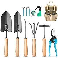 Mosfiata 12 Pieces Gardening Tools Ergonomic Comfortable Handle