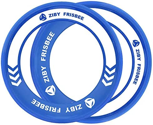 ZIBY Kid s Frisbee Flying Disc Rings Out Door Games with Healthy Family Fun 2 Pack Blue product image