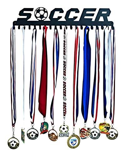 Soccer Medal Hanger - Medal Awards Hanger Holder – Wall Medal Display Rack with Hooks