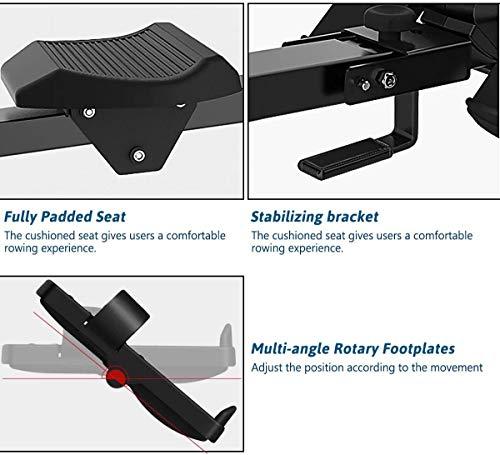 Fitness Deluxe Rudergerät klappbar magnetisch mit 8 Widerstandsstufen & Transportrollen mit Bluetooth