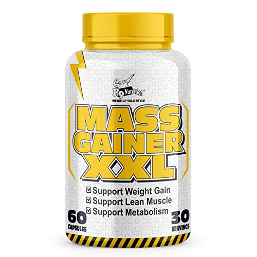 R9 Nutrition XXL Bulk Gain Mass & Weight Gainer Capsule for Fast Weight & Muscle Gain, Daily Muscle Building Weight Lifters Supplement for Muscle Growth, Stamina & Strength, For Men & Women- 60 Cap.