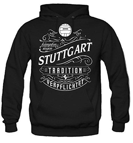 uglyshirt87 Mein Leben Stuttgart Kapuzenpullover | Freizeit | Hobby | Sport | Sprüche | Fussball | Stadt | Männer | Herren | Fan | M1 Front (XL)