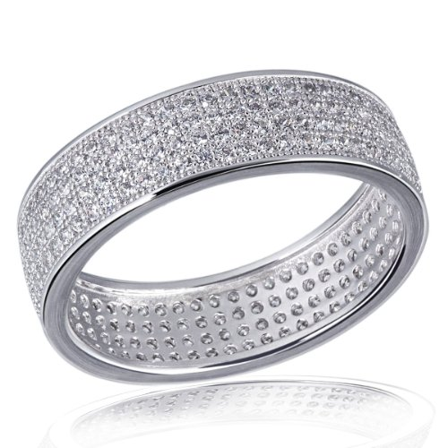 Goldmaid Damen-Ring 925 Sterling Silber Glamshine rundumgefasst 224 weiße Zirkonia Gr. 52 (16.6) Pa R5864S52 Schmuck