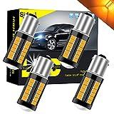 Sidaqi 1156 BA15S P21W 1141 1095 7506 Lampadina a LED 5630 33SMD Ambra 900LM sostituire Indicatore di direzione anteriore e posteriore 12-30 V 3,6 W (4 4 pezzi)