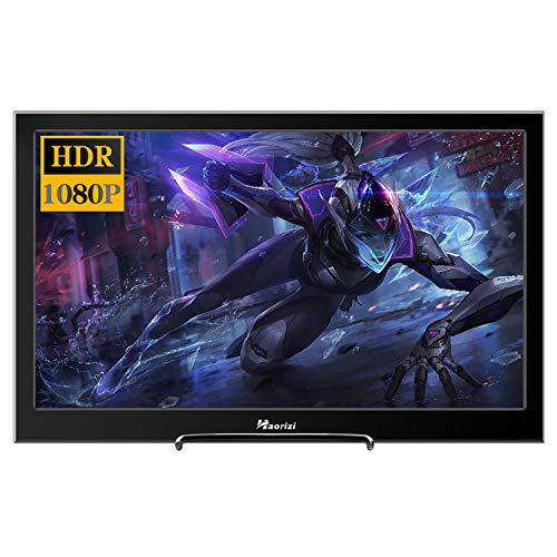Haorizi - Monitor de Videojuegos portátil de 13,3 Pulgadas 2K HDR 2560 x 1440 IPS de Alta resolución con Doble Interfaz HDMI Compatible con Raspberry Pi Screen con Altavoces duales Integrados