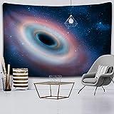 KHKJ Galaxy Universe Space Tapiz Estrellas Colgante de Pared Hippie Retro Decoración para el hogar Yoga Beach Mat Tapiz...