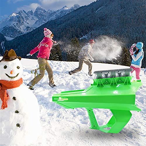 Lanzador de bolas de nieve, pistola Blaster 2 en 1, bola de nieve, lanzador de bolas de nieve y pistola lanzadora al aire libre, juegos de nieve para niños y adultos