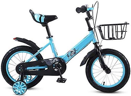 Kinderfürr r HAIZHEN Kinderwagen Freestyle 12 Zoll   16 Zoll   20 Zoll mit Trainingsr rn für Jungen und mädchen Für Neugeborene (Farbe   Blau, Größe   14 inch)