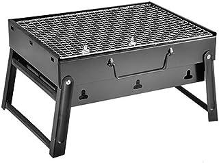 شواء صغير قابل للطي، تدخين الفحم المحمول في الهواء الطلق الطبخ الشواء التخييم المشي لمسافات طويلة