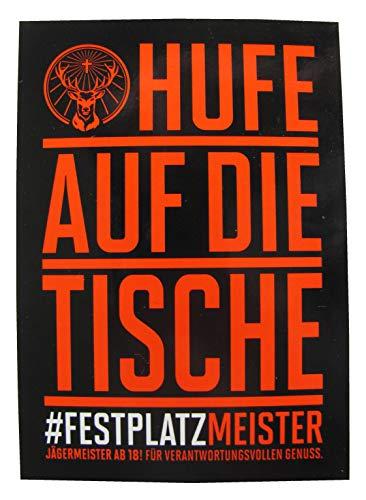 Jägermeister - Aufkleber mit Sprüchen - 10,5 x 7,3 cm - Motiv 4