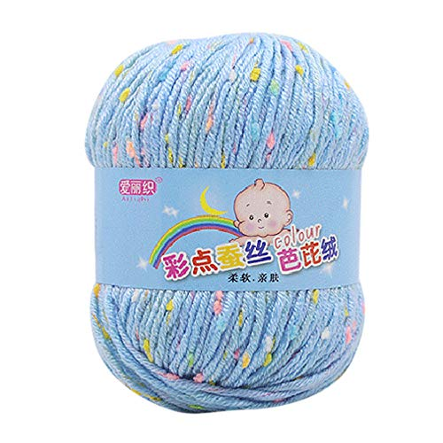 Wool Yarn for Knitting, 50g Milk Cotton Chunky Wool Hand Knicker Yarn Crochet Soft Scarf Sweater Hat Yarn Baby Knitwear Wool Clearance Sale ! (J)