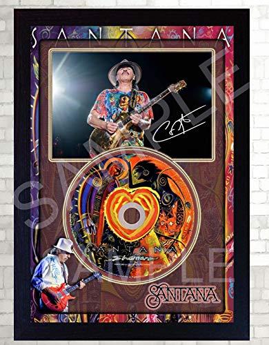 SGH SERVICES Carlos Santana Shaman Autogrammkarte, gerahmt