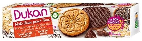 DUKAN - Biscotti di crusca d'avena con semi di Chia