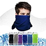 Cooling Towel for Neck 6 Pack,Workout Towel Gym for Women/Men,Soft Breathable Instant Cooling Relief for Sports, Tennis Gift,Hot Yoga, Travel, Camping (6 Pack-Purple/Green/Navy Blue/Blue/Gray/Black)