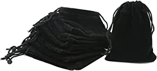 Shintop 10pcs Velvet Drawstring Bags Wedding Gift Bags Velvet Cloth Jewelry Pouches (Black)