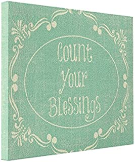 MysteriousZone Wall Art Count Your Blessings Quote 10x8 Canvas Print