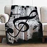 Levens Music Note Blanket Cozy Lightweight Print Throw Blanket for Bed Couch Kids Travelling Camping 50'x60'