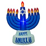 AJY 5.5 Feet Giant Hanukkah Menorah Inflatable Blow Up Indoor Outdoor Yard Lawn Decoration