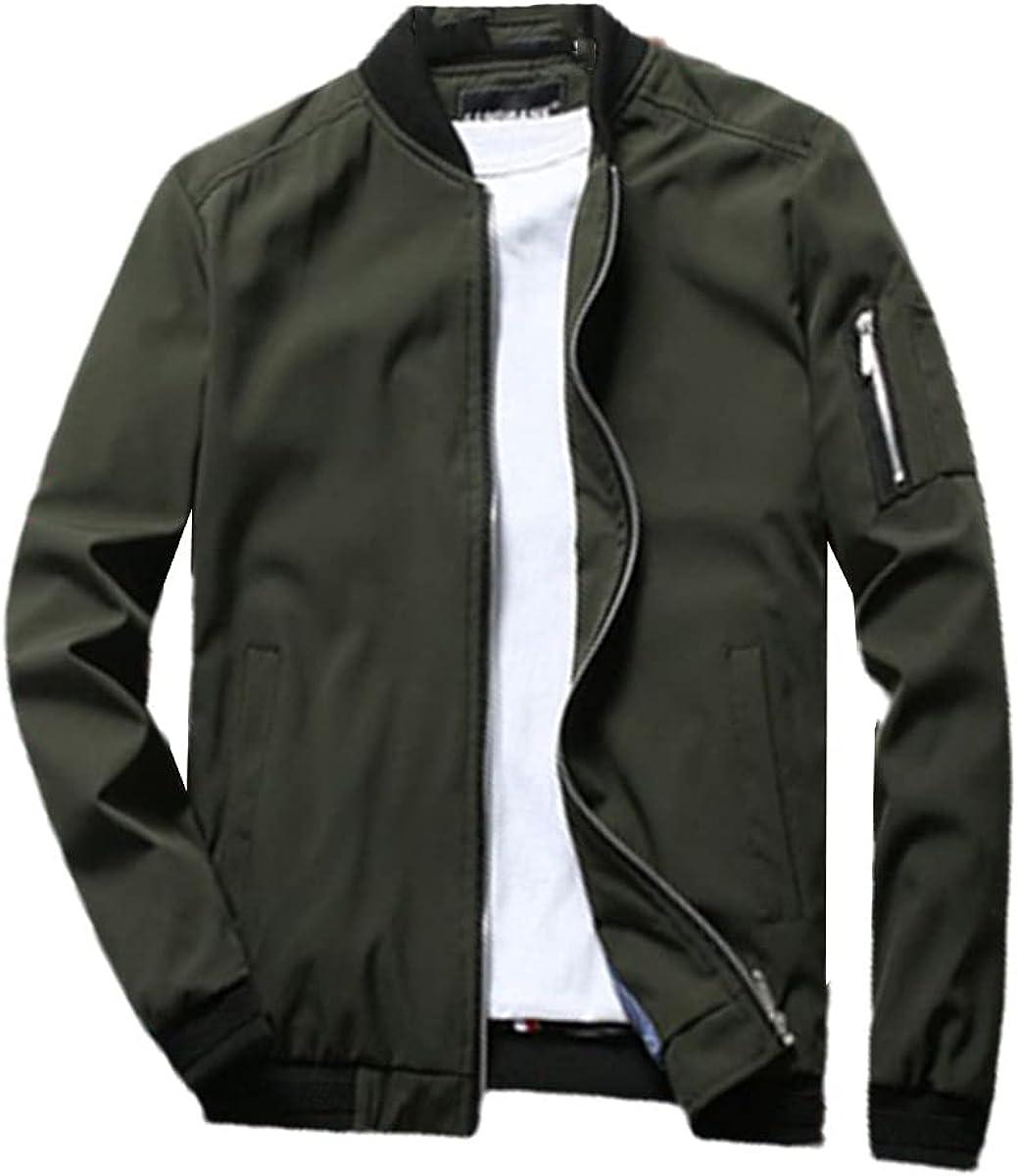 Spring Men's Bomber Jacket Zipper Jacket Casual Streetwear Hip-Hop Slim Jacket