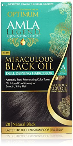 Optimum Care Amla Legend Miraculous Black Oil Dull Defying Haircolor, Natural Black