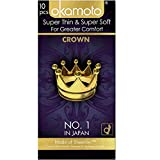 Okamoto Crown Condoms - Rated World's Best Condoms (Pack of 10) Ultra Thin and Strong