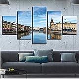 QianLei Leinwand Malerei Wandkunst Rahmen 5 Stück Schweden
