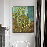 AJleil Puzzle 1000 Piezas Silla vacía Van Gogh Cuadro de Arte decoración Moderna Pintura Puzzle 1000 Piezas clementoni Rompecabezas de Juguete de descompresión Intelectual educativo50x75cm(20x30inch)
