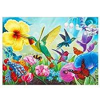 油絵 数字キットによる絵画 塗り絵 大人 手塗り 鳥と蝶- DIY絵 デジタル油絵 40x50 センチ (diyの木製フレーム)