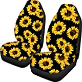 Best Seat Covers For Cars - FOR U DESIGNS Sunflower Printed Front Seat Covers Review