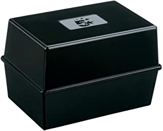 (Black) - 5 Star Office Card Index Box Capacity 250 Cards 5x3in 127x76mm Black
