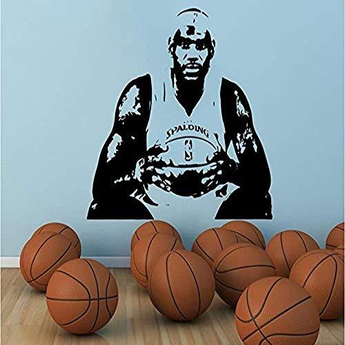 Große Basketball Wohnkultur berühmte Spieler Trikot Schablone Kavaliere Wandaufkleber Wandtattoo 57 * 64 cm