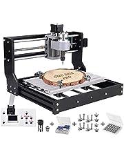 Vogvigo Upgrade CNC 3018 Pro Freesmachine, doe-het-zelf mini-CNC-3D-graveermachineset voor hout, kunststof, acryl, pcb en pvc; met 3 assen, router, GRBL- besturing en offline controller