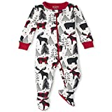The Children's Place Baby and Toddler Holiday Snug Fit Cotton One Piece Zip Up Pajamas, Winter Bear, 5T