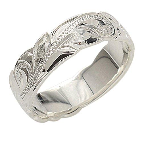 BreezyIsland ハワイアンジュエリー リング プルメリア&スクロール 指輪 シルバー925 (US9-JP18.5号)