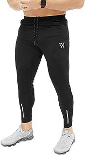 BROKIG Mens Gym Jogger Pants,Slim fit Running Workout zip pockets Sweatpants