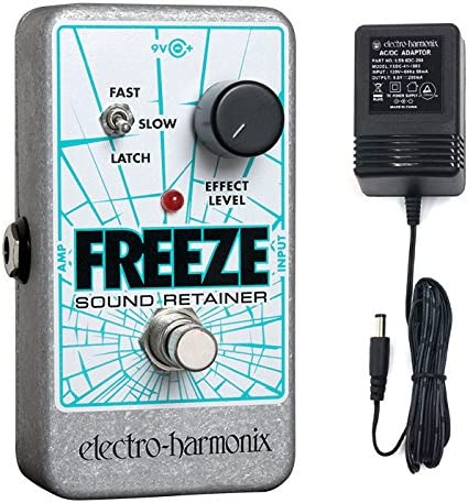 new arrival Electro lowest new arrival Harmonix Electro-Harmonix Freeze Sound Retainer Pedal sample/Loop with Power Supply outlet sale