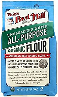 Bobs Red Mill Organic Unbleached White Flour (2x5lb) by Bob's Red Mill