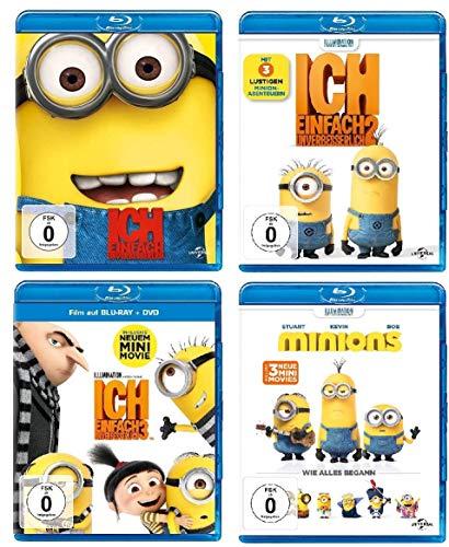 Ich - Einfach unverbesserlich 1+2+3 & Minions - der Film im Set - Deutsche Originalware [7 Blu-rays]