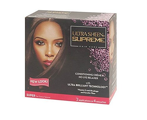 Ultra Sheen Supreme No-lye Relaxer Conditioning Creme Kit, Super, 1 Ea, 1count