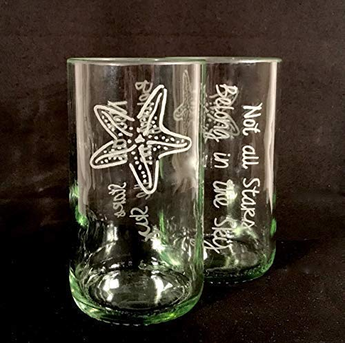 Set of 2 Not All Stars Belong in Wine Bot Direct sale of manufacturer oz Choice Sky Starfish the 14