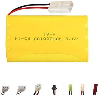 rpbll 9.6V 3000mah Batterie 9.6v Chargeur pour Rc Jouet Voiture Train Pistolet AA 9.6v Rechargeable Battery Pack pour RC Bateaux-/_Noir
