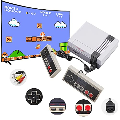 Classic Mini Retro Game Console, Built-in 620 Classic Games and 2 NES Classic Controller, Bring You Back to Childhood Memories