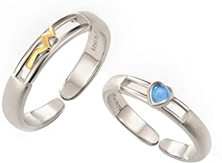 Original Design Ring S925 Sterling Silver Simple Personality Men And Women Couples Ring A Pair Of Gifts