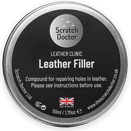 Leather Repair Filler Compound for Cracks, Burns and Holes 50ml (Chocolate...
