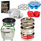 Casa Verde 12 Piece Pressure Cooker Accessories Set Compatible with Instant Pot 6, 8 Qt | 5-Piece Stackable Insert Pans, Egg Bite Mold, Steamer Basket, Springform & Push Pans, Trivet/Egg Rack & More